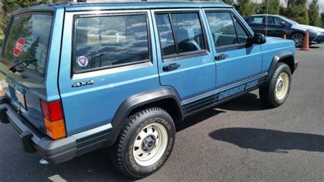 jeep cherokee chief blue 1987 jeep cherokee chief sport utility original 3480 miles