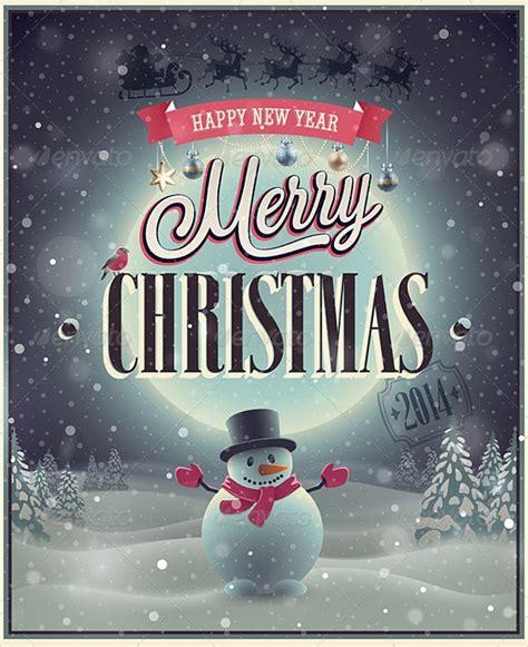 amazing christmas poster templates   sample