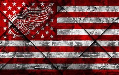 Wings Detroit 4k Wallpapers American Grunge Hockey