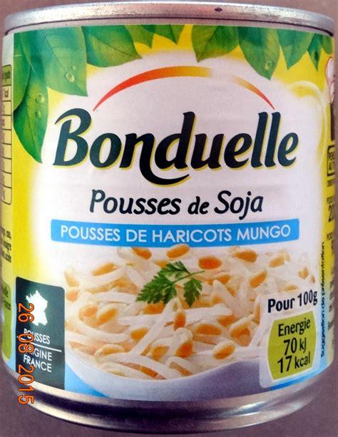 cuisiner pousse de soja pousses de soja bonduelle 90 g égoutté pour 200 g total