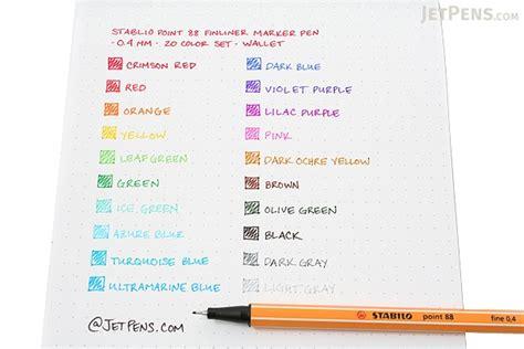 stabilo point  fineliner marker   mm  color