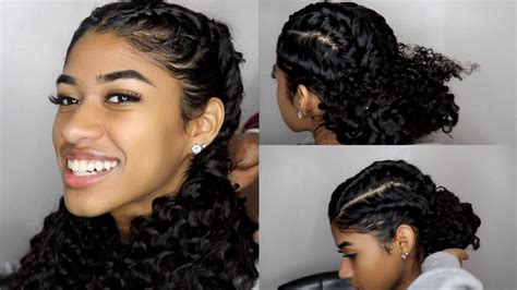 easy braided hairstyles for curly hair