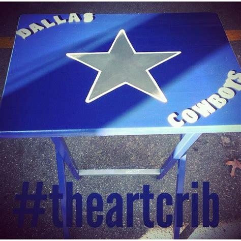 dallas cowboys folding table father 39 s day gift idea for husband dad boyfriend custom