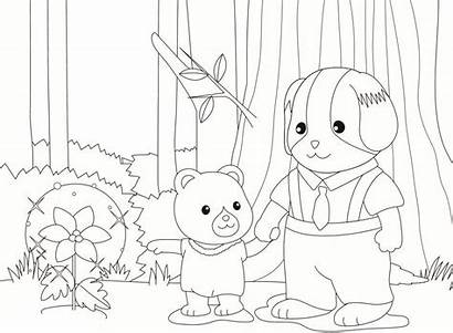 Calico Coloring Critters Pages Sylvanian Coloringtop