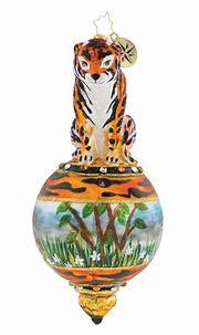 Christopher Radko Eye Of The Tiger Ornament