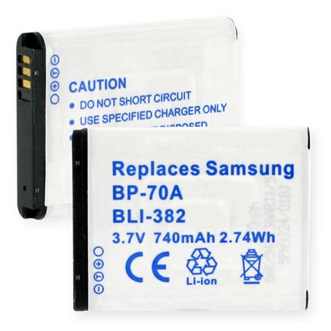 Battery Samsung Bp 70a By Yesmart samsung bp 70a replacement battery bli 382
