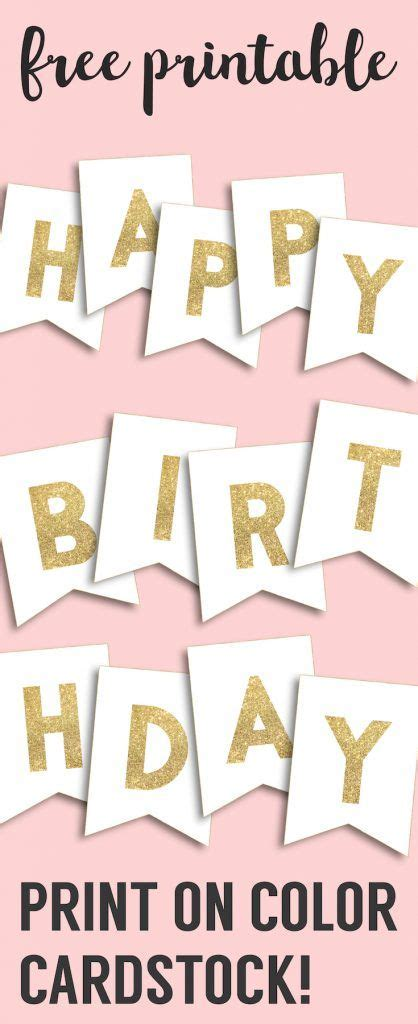 happy birthday banner printable template happy birthday