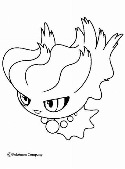 Coloring Pokemon Pages Cyndaquil Misdreavus Ghost Drawing