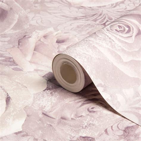 Unlimited Reverie Mauve & purple Floral Wallpaper