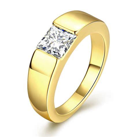 megrezen engagement ring stone men cubic zirconia wedding