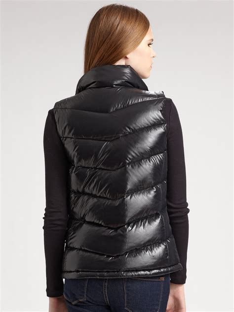 quilted puffer vest lyst the quilted puffer vest in black
