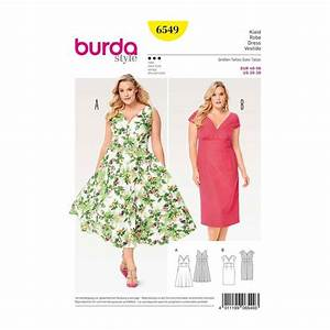 patron burda 6549 robe taille 46 56 pas cher tissus price With robe noel taille 46