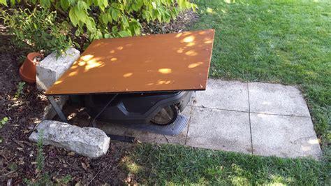 neue maehroboter garage aus corten stahl carport