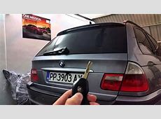BMW E46 Touring Automatic boot opening YouTube