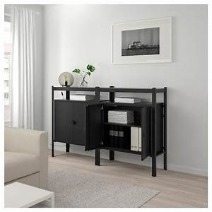 Ikea Offenes Regal : bror regal mit schrank schwarz ikea ~ Watch28wear.com Haus und Dekorationen