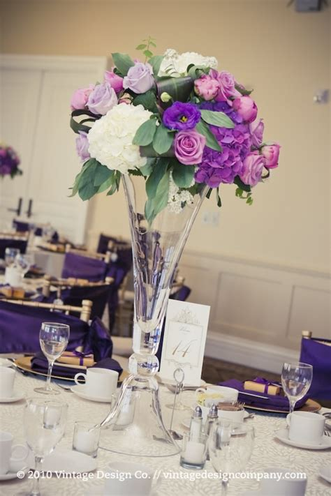 flower table decorations for weddings purple centerpieces flower for wedding table decoration
