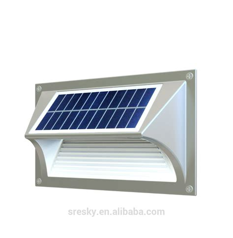 solar powered garden outdoor exterior wall light up
