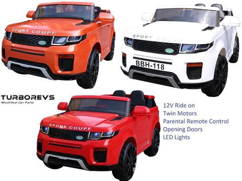 12v Kids Electric Ride On Car Range Rr Type Jeep Suv