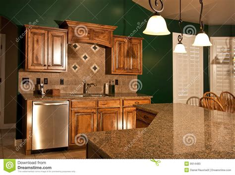 classic kitchen cabinets home kitchen with center island stock image image of 2223