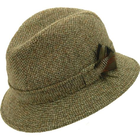edward drop brim hat harris tweed hats and that