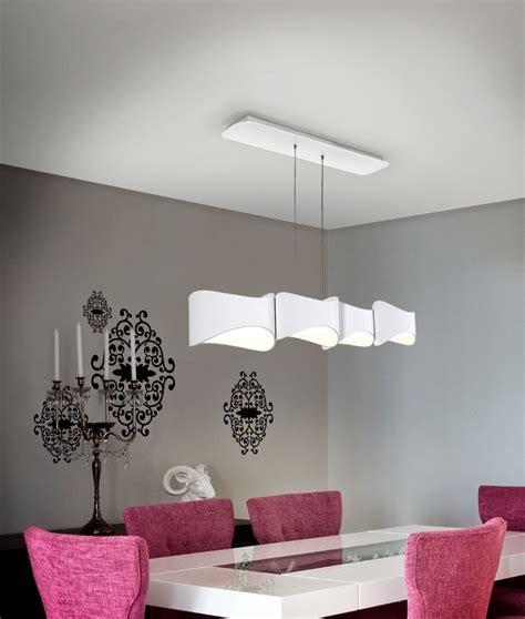 Led Lights In Dining Room by Suspended 4 Light Led Dining Light In Matt White