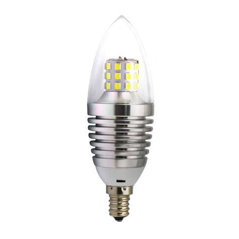 60w equivalent candlelabra base e12 led light bulbs 4000k