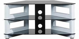 Meuble Tv D Angle Blanc : meuble d angle tele meuble d angle tele sur enperdresonlapin ~ Teatrodelosmanantiales.com Idées de Décoration