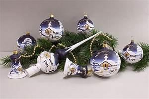 Weihnachtskugeln Glas Lauscha : weihnachtskugeln winterlandschaft nachtblau onlineshop ~ A.2002-acura-tl-radio.info Haus und Dekorationen