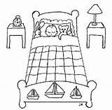 Cuarto Dibujos Pintar Colorear Dormitorio Bedtime Recamara Dibujo Bebe Coloring Infantil sketch template