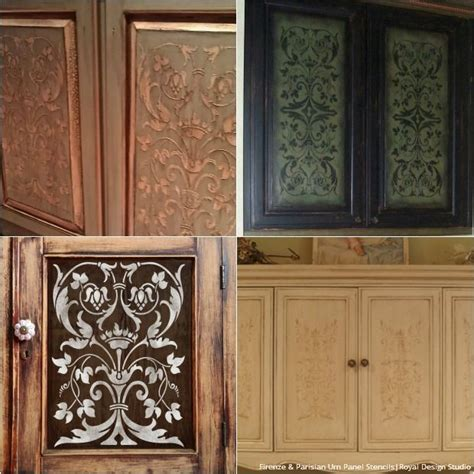 cabinet door makeover 20 diy cabinet door makeovers with furniture stencils