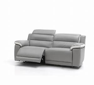 canape relax electrique cuir 3 places 3730 With canapé cuir relax electrique 3 places monsieur meuble