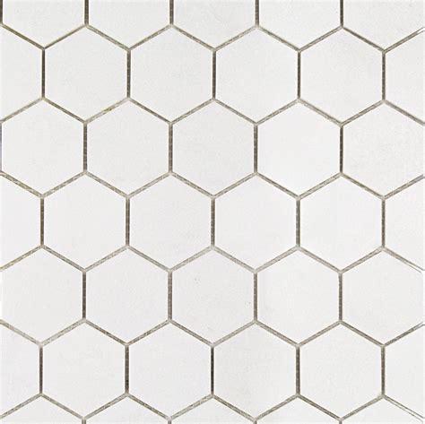 Shop For White Thassos Hexagon Marble Mosaics at TileBar.com