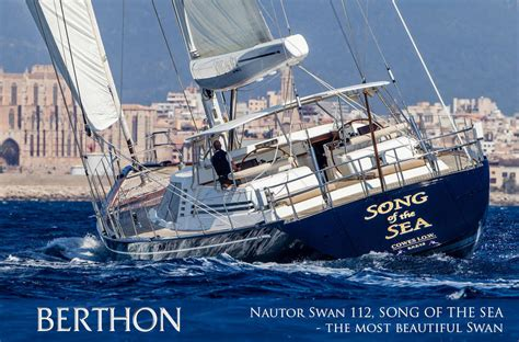 Yacht In The Water Song by Nautor Swan 112 Song Of The Sea The Most Beautiful Swan