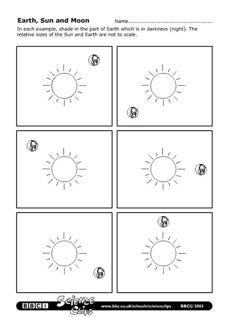 worksheets about the sun moon and earth sun earth moon worksheets pics about space