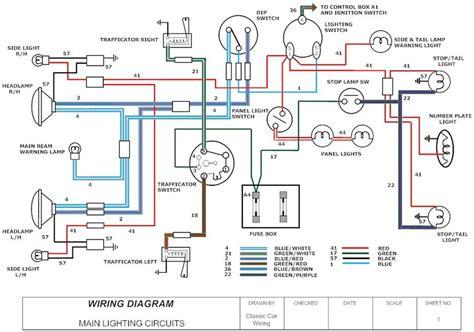 Sample Diagram Classic Car Wiring Diagrams