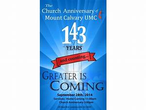 Mount Calvary 143rd Homecoming and Church Anniversary ...