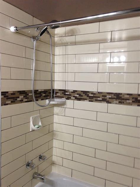 bathtub surround subway tiles
