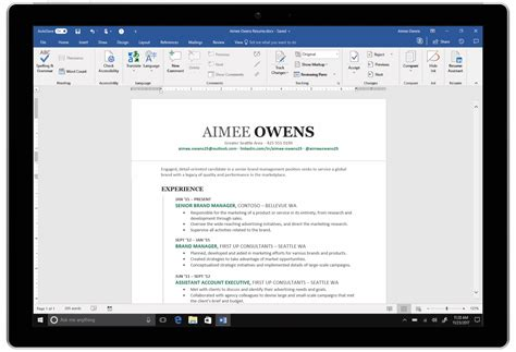 Linkedin On Resume by Microsoft Integrates Linkedin With Word To Help You Write