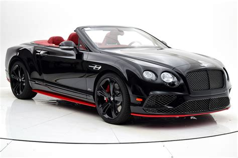 2017 Bentley Continental Gt Speed Convertible Black Edition
