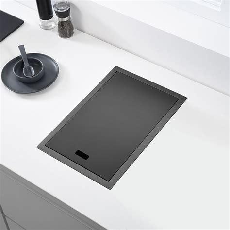hidden black kitchen sink single bowl bar small size sink