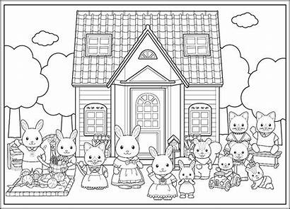 Coloring Calico Critters Pages Preschooler Paints Rudolph