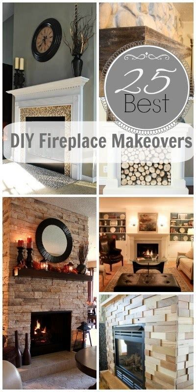 remodelaholic   diy fireplace makeovers