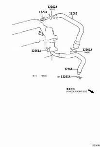 2003 Toyota Corolla Pcv Valve Hose  Engine  Ventilation - 1226222040