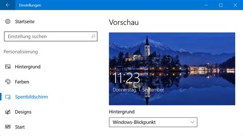 Windows 10: Windows-Blickpunkt-Bilder vom Sperrbildschirm