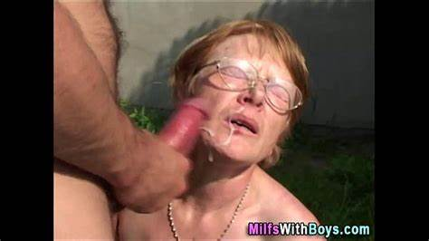 Min Ugly Cougar From Naughty4you Granny In Pierced Face Showere With Sperm