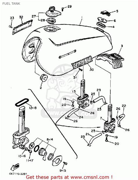 yamaha xv750 virago 1983 d usa fuel tank schematic