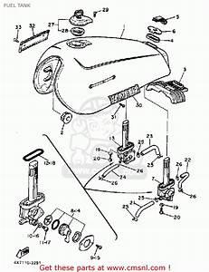Yamaha Xv750 Virago 1983  D  Usa Fuel Tank