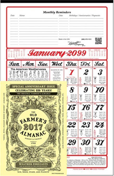 almanac calendar farmers almanac book calendar company
