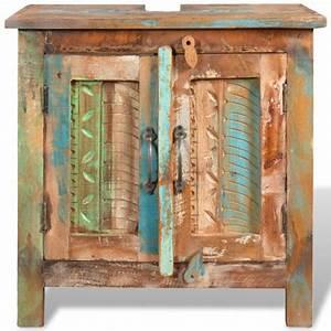 Badmöbel Vintage Style : badm bel waschbeckenunterschrank mit spiegel massivholz ~ Michelbontemps.com Haus und Dekorationen