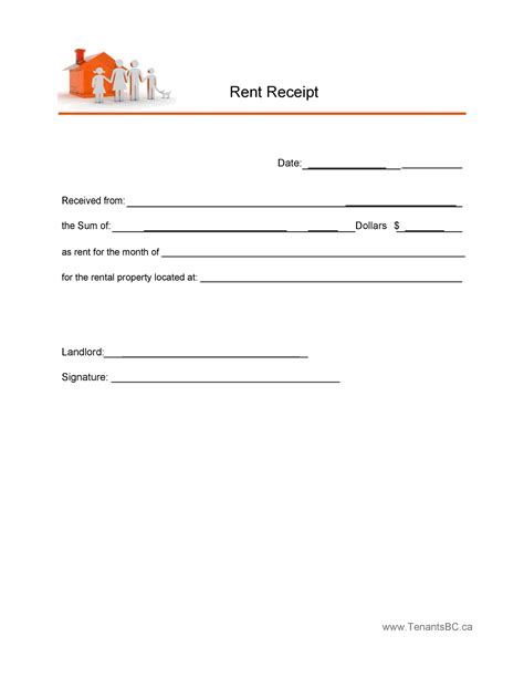 electronic rent receipt template tutoreorg master